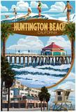 Huntington Beach, California - Montage Scenes Photo