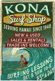 Kona, Hawaii - Surf Shop Poster