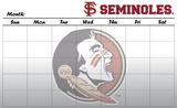 Florida State Seminoles Dry Erase Calendar Novelty