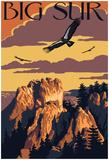Big Sur, California - Condors Affiche