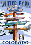 Winter Park, Colorado - Sign Destinations Prints