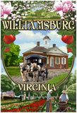 Williamsburg, Virginia - Montage Scenes Prints