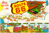 Map Of Route 66 From Los Angeles To Chicago Photo