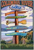 Columbia River Gorge, Oregon Destinations Sign Prints