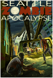 Seattle Zombie Apocalypse Prints