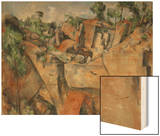 The Quarry at Bibemus, circa 1895 Wood Print by Paul Cézanne