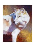 White Wolf Print by Julie Chapman