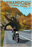 Shenandoah National Park, Virginia - Marys Rock Tunnel Motorcycle Prints