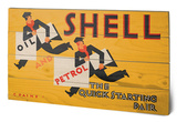 Shell - Newsboys, 1928 Wood Sign