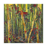 Bamboo Grove I Premium Giclée-tryk af Nanette Oleson