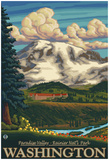Paradise Inn, Mt. Rainier National Park, Washington Prints