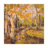 Four Seasons Aspens III Print by Nanette Oleson