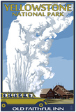 Old Faithful Lodge And Bus - Yellowstone National Park Posters