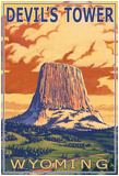Wyoming, View Of Devil's Tower Posters