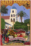 San Diego, California - Old Town Print