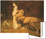 Una and the Lion, from Spenser's Faerie Queene, 1880 Wood Print by Briton Riviere