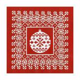 Fair Isle Snowflake V Prints by Chariklia Zarris