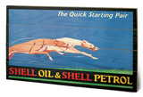 Shell - Greyhounds, 1926 Wood Sign