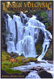 Kings Creek Falls - Lassen Volcanic National Park, Ca Posters
