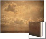 Marine, étude de nuages Wood Print by Gustave Le Gray
