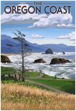 Oregon Coast Rocky Shore Print