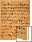 The Brandenburger Concertos, No.5 D-Dur, 1721 Wood Print by Johann Sebastian Bach
