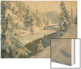 Winter Landscape, St. Moritz, 1930 Wood Print by Peder Moensted