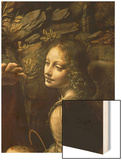 The Virgin of the Rocks (The Virgin with the Infant St. John Adoring the Infant Christ) Wood Print by  Leonardo da Vinci