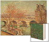 Pont Royal and the Pavillon De Flore, 1903 Wood Print by Pissarro Camille
