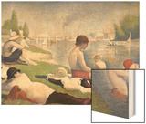Bathers at Asnieres, 1884 Wood Print by Seurat Georges
