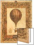 Vintage Hot Air Balloon I Wood Print by Miles Graff