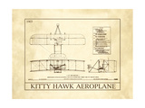 Kitty Hawk Aeroplane Wood Print