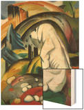 The White Dog (Hund Vor Der Welt), 1912 Wood Print by Franz Marc