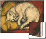 The White Cat, 1912 Wood Print by Franz Marc