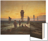 The Stages of Life, circa 1835 Wood Print by Caspar David Friedrich