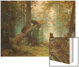 Morning in a Pine Forest, 1889 Wood Print by Iwan Iwanowitsch Schischkin