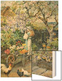 English Cottage Garden Prints by William Stephen Coleman