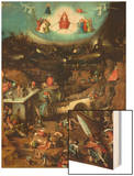 Last Judgment, Central Panel of Triptych Wood Print by Hieronymus Bosch