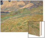 Wheatfield and Mountains, c.1889 Posters by Vincent van Gogh