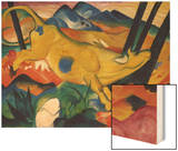 Yellow Cow, 1911 Wood Print by Franz Marc
