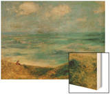 Seashore at Guernsey, 1883 Wood Print by Pierre-Auguste Renoir