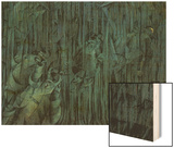 Stage of Mind: Those Who Stay Wood Sign by Boccioni Umberto