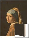 Girl with a Pearl Earring, circa 1665-6 Wood Print by Jan Vermeer