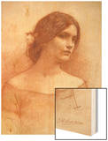 Study for 'The Lady Clare', C.1900 (Red Chalk on Paper) (See 55018) Posters by John William Waterhouse