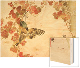 Flowers and Birds Picture Album by Bairei No.10 Wood Print by Bairei Kono