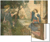 The Annunciation, c.1914 Wood Print by John William Waterhouse