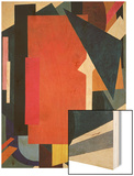 Painterly Architectonics, 1916-17 Wood Print by Liubov Sergeevna Popova