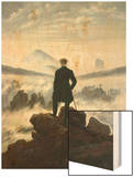 The Wanderer Above the Sea of Fog, 1818 Wood Print by Caspar David Friedrich