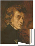 Frederic Chopin (1809-1849), Polish-French Composer Wood Print by Eugene Delacroix