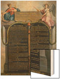 The Declaration of the Rights of Man and Citizen, August 1789 Wood Print by Jean Jacques Francois Le Barbier